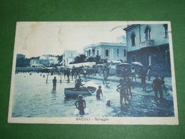 Cartolina Bacoli - Spiaggia 1934 - Napoli (Naples)