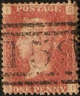 Great Britain 1858 1 D  Plate 145  Alph. IB,  Cancel  159 Glasgow Scotland - Gebraucht
