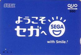 Carte Prépayée Japon - Jeu Video - SEGA / With Smile - Game Japan Prepaid Card - Spiel Quo Karte - 4018 - Jeux