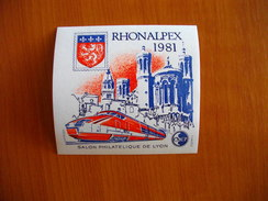 France Blocs De La CNEP Bloc N° 2 Rhonalpex 1981 Bloc N° 3 Paripex 1982 Bloc N° 4 Nordex 83 - CNEP