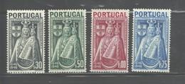 "PORTUGAL 1946 ""300th ANNIV. VIRGIN MARY PATRON OF PORTUGAL."" #671-6674 MNH $9.10 - 1910-... Republik"