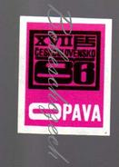 46-131 CZECHOSLOVAKIA 1966 Opava  XVII. FFP Festival Of The Working People Cultural Politics Communist Regime - Luciferdozen - Etiketten