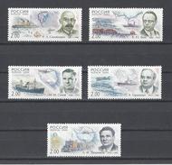 RUSSIE . YT 6450/6454 Neuf ** Explorateurs Des Pôles 2000 - 1992-.... Fédération