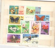 Bhutan  1970/80 Diversi  Valori N.10 Usati Scott.+See Scan - Bhutan