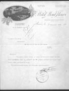 Facture Ancienne Illustrée. Hotel Mont-Fleury, Paris, Avenue De La Grande Armée, 1925 - Sports & Tourisme