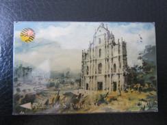 GPT Phonecard,8MACB Painting Of Sao Paulo Church,from Set Of 3, Used - Macau