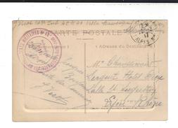 CACHET  Golfe Juan Assistance Aux Convalescents Militaires N° 48 Villa  Mauresque  F M    Guerre 14-18 - Storia Postale