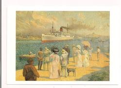 """Le """"Parana """" De La S.G.T.M. - 1910 David Dellepiane - Carte De La Chromo-litho 44 X 57 Cm - - Paquebots"""