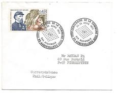 OBLITERATION EXPO CENTENAIRE DE LA COMMUNE à AUBERVILLIERS SEINE SAINT DENIS 1971 - Marcophilie (Lettres)