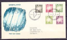 Greenland 1963 Northern Lights 5v FDC (36066) - FDC
