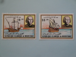 1981  Mauritanie Yvert  485/6 **  Bateaux Ships  Scott Xx Michel  733/4  Colombus Colomb - Mauritanie (1960-...)