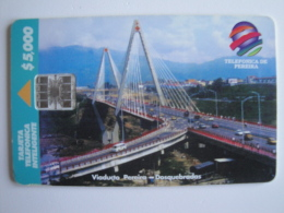 1 Chip Phonecard From Colombia - Telepsa - Pereira Viaduct - Colombia