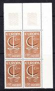 Europa Cept 1966 Andorra Fr 1v Bl Of 4 ** Mnh (36069A) - 1966