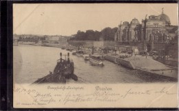 Dresden - Dampfschiff Landeplatz - Dresden