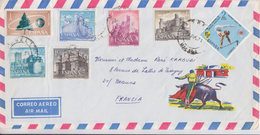 = Timbres Espagne 7 Sur Enveloppe Juillet 1971 - 1971-80 Covers