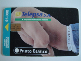 1 Chip Phonecard From Colombia - Telepsa -  Punto Blanco Man - Colombia