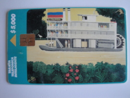 1 Chip Phonecard From Colombia - Telepsa -  El Colombia Painting Ship - Colombia