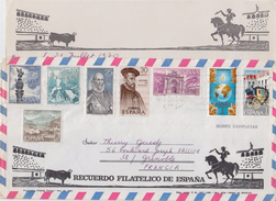 = Timbres Espagne 8 Sur Enveloppe Juillet 1970 Avec Carte Correspondance (écrite) - 1931-Hoy: 2ª República - ... Juan Carlos I
