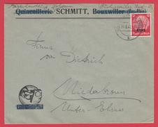 Envel.  ALSACE - 1941 - Quincaillerie SCHMITT, Bouxwiller => Niederbronn _  Timbre HINDENBURG Suchargé Elsaß - Germania