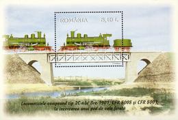 Rumänien/Romania  Bl. 2011 Dampflok  **/MNH - Trains