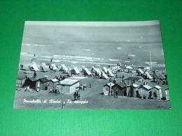 Cartolina Marebello Di Rimini - La Spiaggia 1958 - Rimini