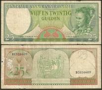 1963 Surinam 25 Gulden P122 F-VF - Suriname