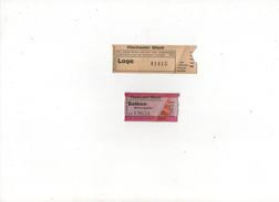 RARE Ticket De CINEMA WERHRMACHT + Un Civil  Ville De BITCHE 57620 - Documenti