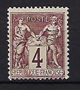 """FR YT 88 """" Sage 4c. Lilas-brun """" Neuf* - 1876-1898 Sage (Type II)"""