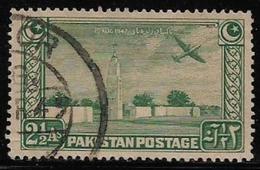 Pakistan Tower Aeroplane 2&1/2 Annas Used Stamp # AR:74 - Pakistan