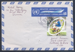 France 1998 Aerogramme  Cover: Rugby; Coupe Du Monde De Rugby; World Championship; Weltmeisterschaft; United Nations - Rugby
