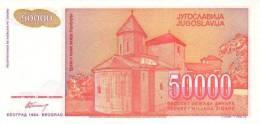 YUGOSLAVIA P. 142a 50000 D 1994 UNC - Yougoslavie