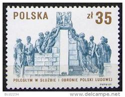POLAND 1989 45 YEARS SERVING THE NATION MO MILITIA POLICE & SB SECRET POLICE NHM Gendarmerie Communism Socialism - Police - Gendarmerie