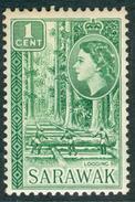 SARAWAK 1957 QEII & Logging 1c., XF MNH, MiNr 188, SG 188 - Stamps