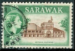 SARAWAK 1957 QEII & Astania, Kuching 25c., VF Used, MiNr 197, SG 197 - Stamps