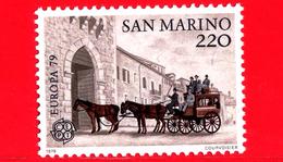 Nuovo - MNH - SAN MARINO - 1979 - Europa - C.E.P.T.- Storia Postale - Diligenza A Cavalli - Carrozza Postale, 1895 - 200 - Nuevos