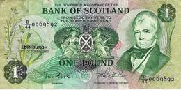 SCOTLAND 1 POUND 1983 P-111f VF S/N D/44 0069892 [SQ111f] - [ 3] Scotland