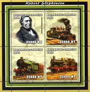 Mocambique  Block 3  Stephenson Dampflokomotive  ** / MNH - Trains