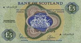 * SCOTLAND 5 POUNDS 1968 P-110a UNC RARE [SQ110a] - 5 Pond