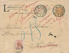 294/25 - NEDERLAND Lettre TP Wilhelmina S'GRAVENHAGE 1901 En Locale - Nombreuses Recherches Et Retour Bruxelles - Periode 1891-1948 (Wilhelmina)