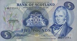 * SCOTLAND 5 POUNDS 1975 P-112c UNC [SQ112c] - 5 Pounds