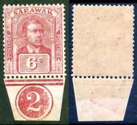 SARAWAK 1928 Sir Charles Vyner Brooke 6c. Claret, VF MNH, MiNr 75, SG 81 - Stamps