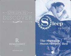 2 Cartes Hotel Hostel Cards Renaissance Discover Et Sheraton Sleep_0001 - Cartes D'hotel