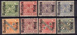 DR Dienstmarken 1920, Mi D 57-64 * [100617StkKV] - Dienstzegels