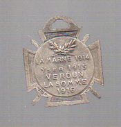 Médaille La Marne 1914 Yver 1915 Verdun La Somme 1916  (PPP5273) - 1914-18