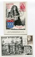 Journée Du Timbre De 1947 Et 1948 Sur CP BOURGES 15/03/1947 Et CHARTRES   06/03/1948 - ....-1949