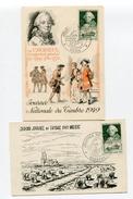 Journée Du Timbre De 1949 Sur CP  PARIS Et CHARTRES   26/03/1949 - ....-1949