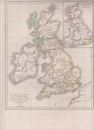 CARTES HISTOIRE ANGLETERRE ECOSSE IRLANDE DOMINATION SAXONS - DEPUIS GUILLAUME LE CONQUERANT 1066 à 1483 2 ROSES - Geographical Maps