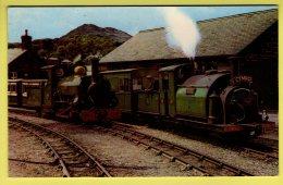 Caernarvonshire - Festiniog Railway, Locomotvies Prince & Linda, Portmadoc Steam, Trains - Jarrold & Sons Ltd PC - Caernarvonshire