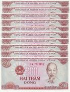 VIETNAM 200 DONG 1987 P-100a UNC SMALL SERIAL S/N 10 PCS [VN328a] - Vietnam