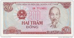 VIETNAM 200 DONG 1987 P-100a UNC SMALL SERIAL S/N [VN328a] - Vietnam